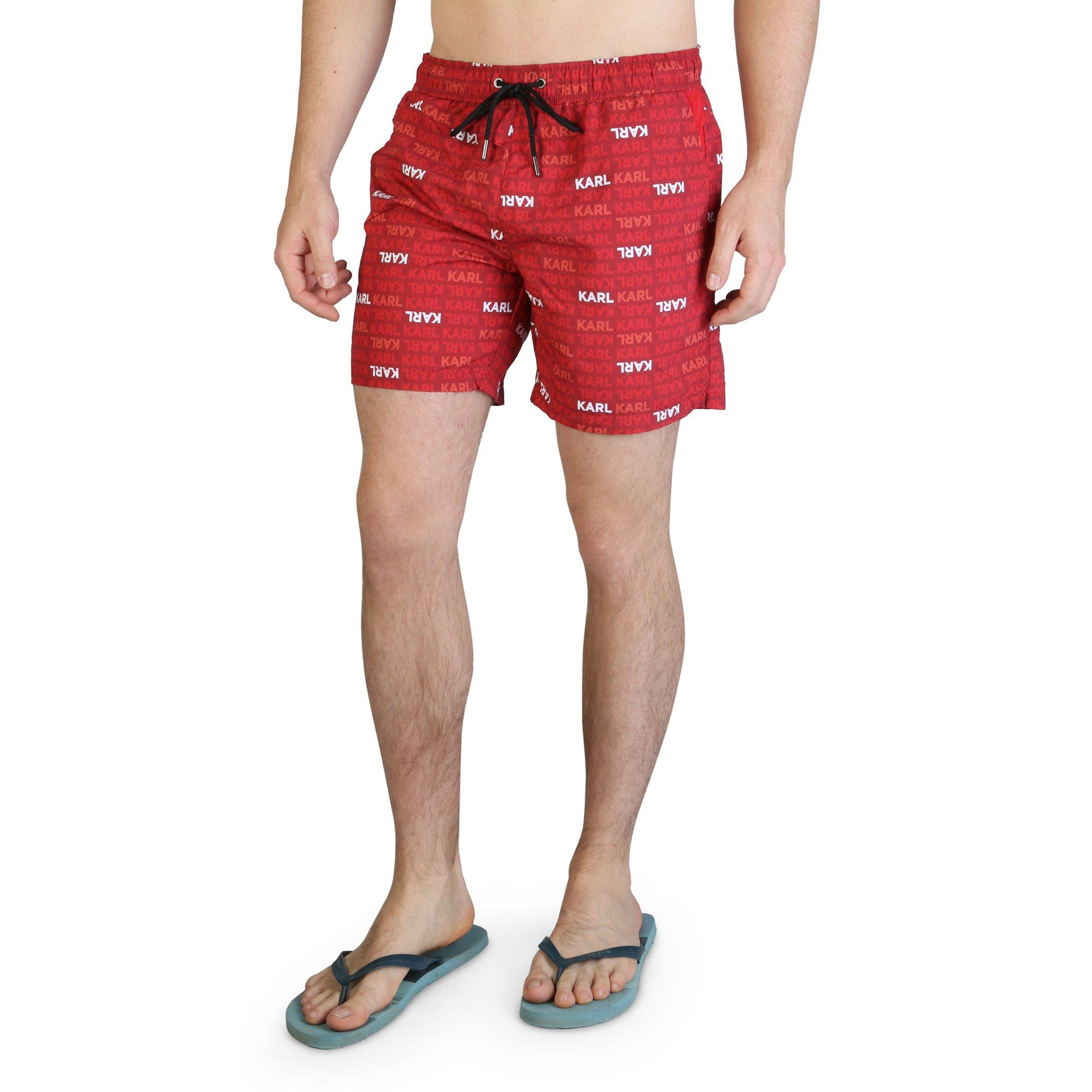 Karl Lagerfeld Men's Swimwear Various Colours KL21MBM06 - red S