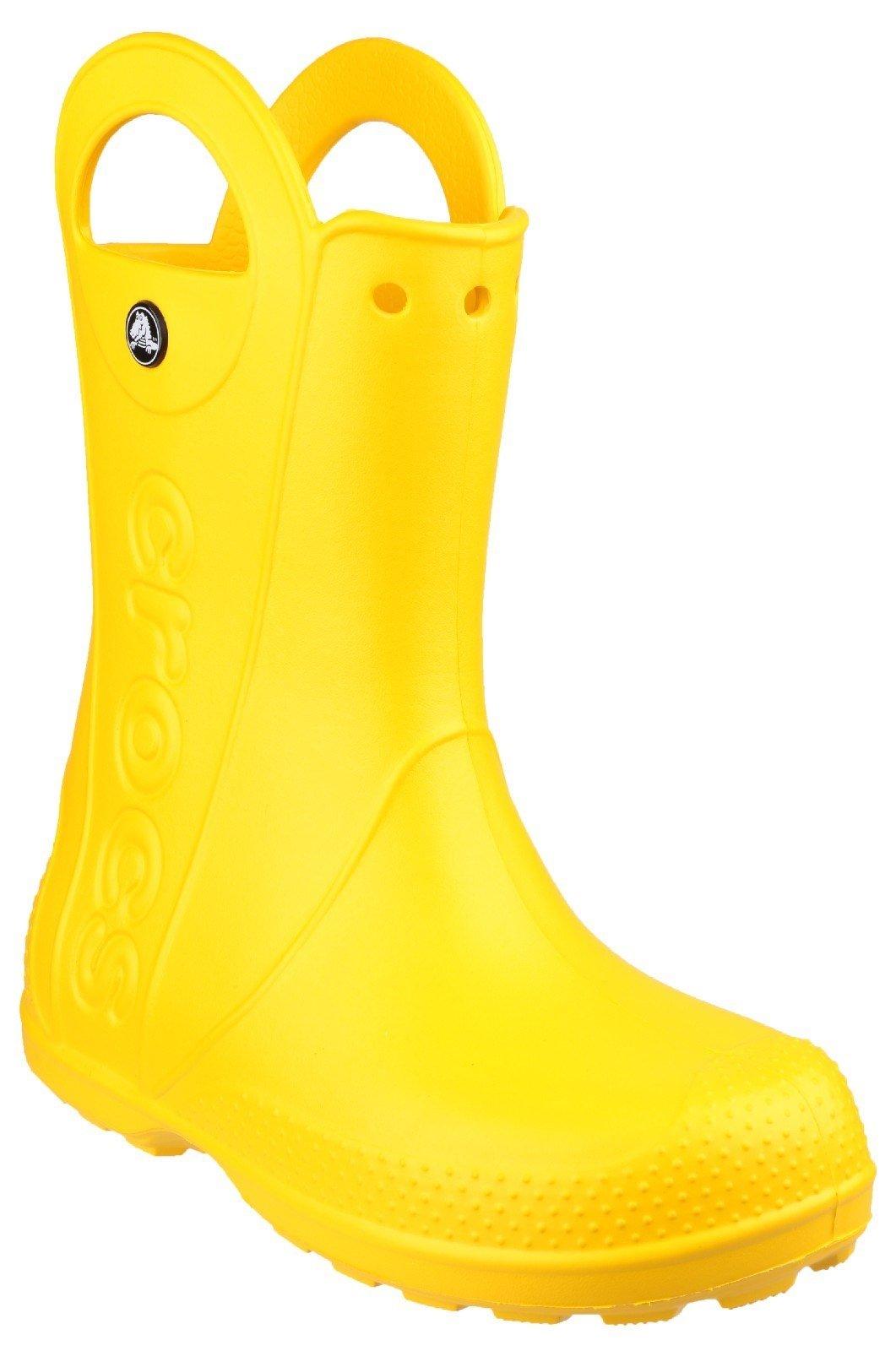 Crocs Kid's Rain Boot Various Colours 21080 - Yellow 6 UK