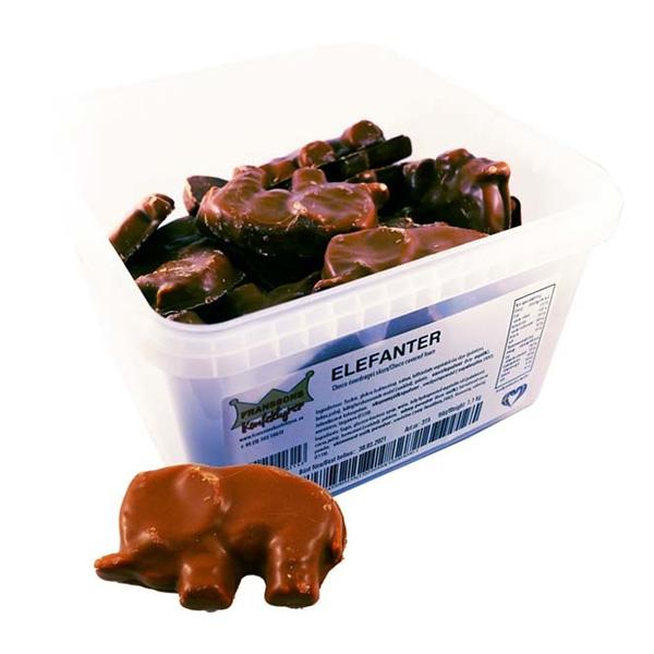 Choklad Elefanter Lösvikt i Burk - 1.1 kg