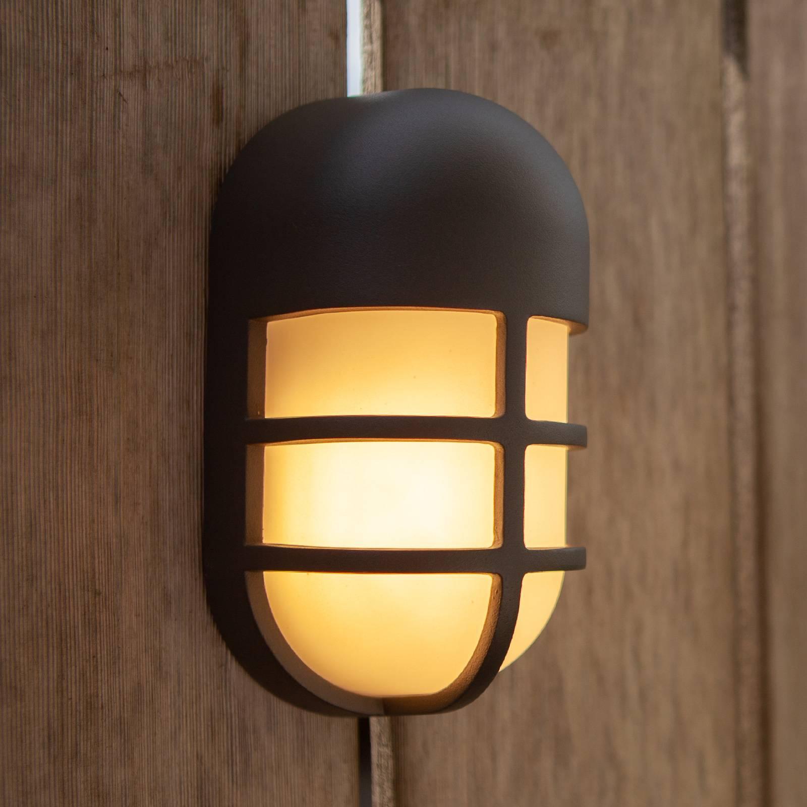 LED-ulkoseinälamppu Bullo, antrasiitti