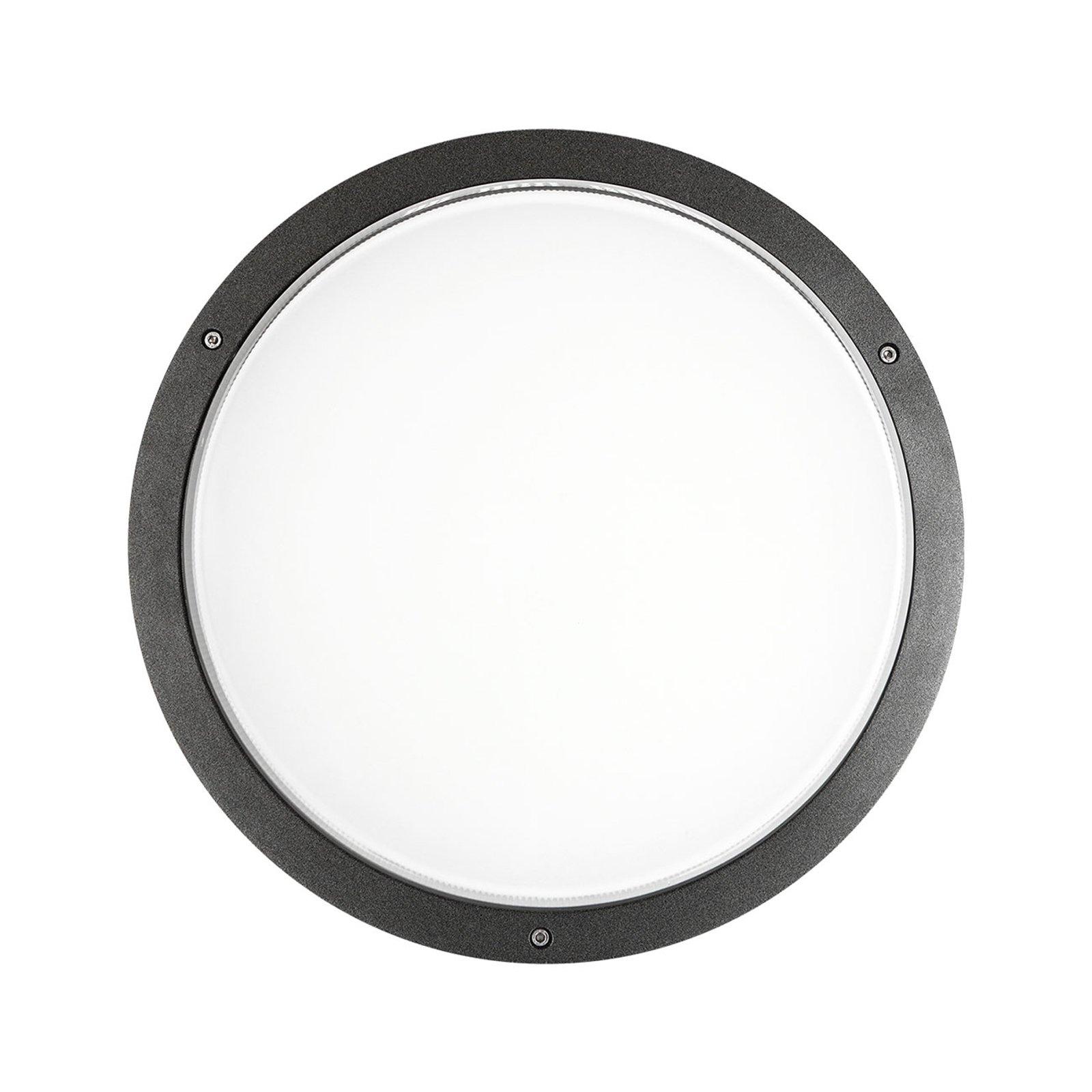 Vegglampe Bliz Round 40 3 000 K, antrasitt dimbar