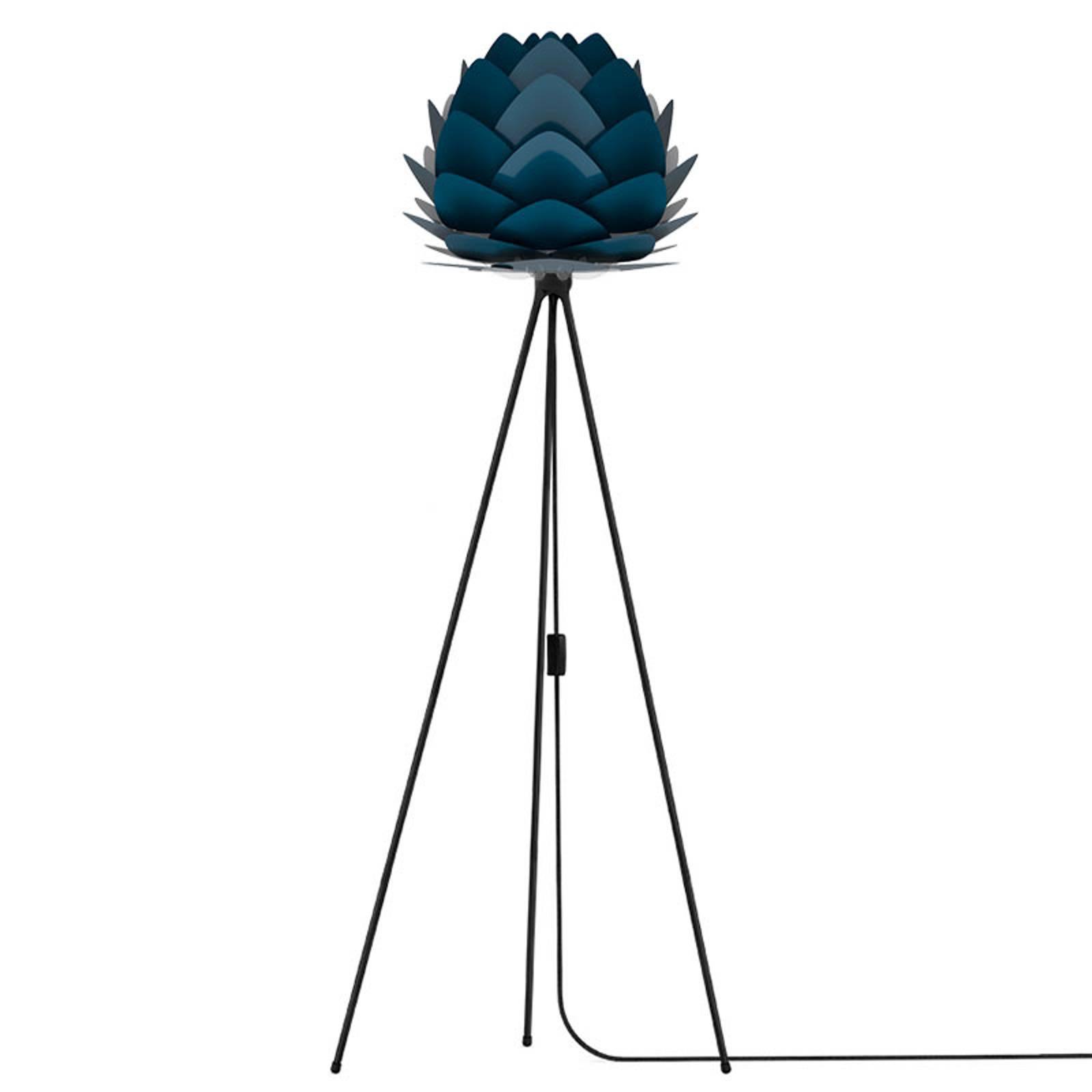 UMAGE Aluvia mini-gulvlampe svart/blå