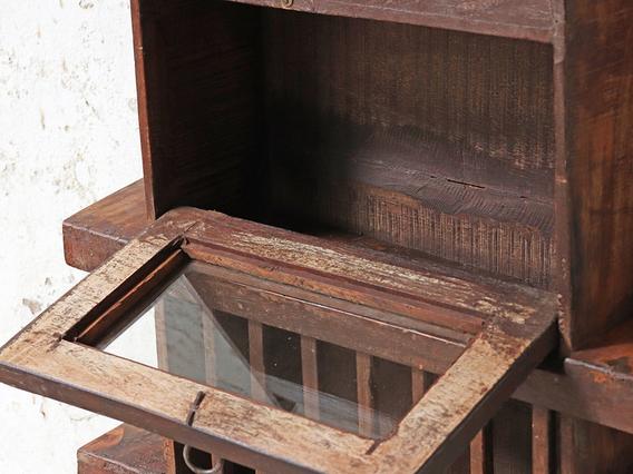 Rustic Wooden Rack Brown