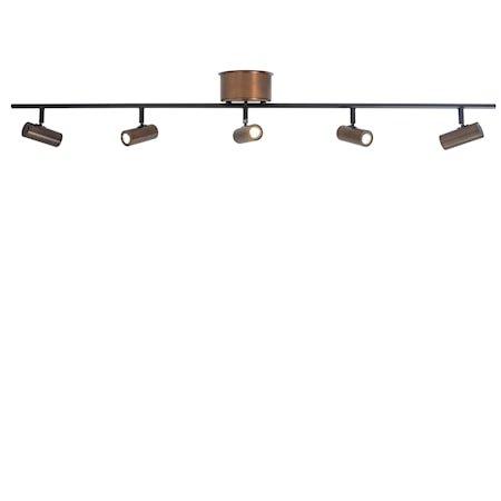 Cato Skinne Oksidert 5-spot LED Dimbar