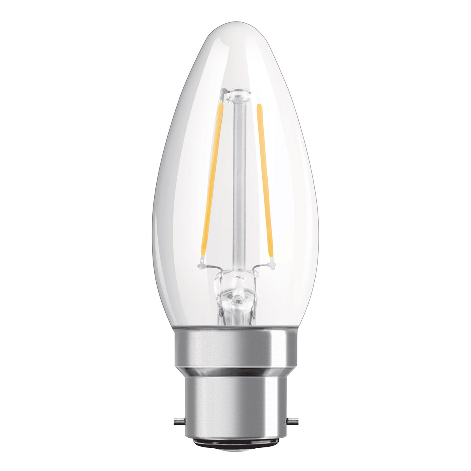 OSRAM-LED-kynttilä B22d Classic B Filament 2,5W
