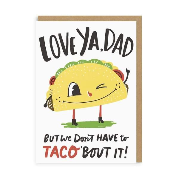 Dad Taco Greeting Card