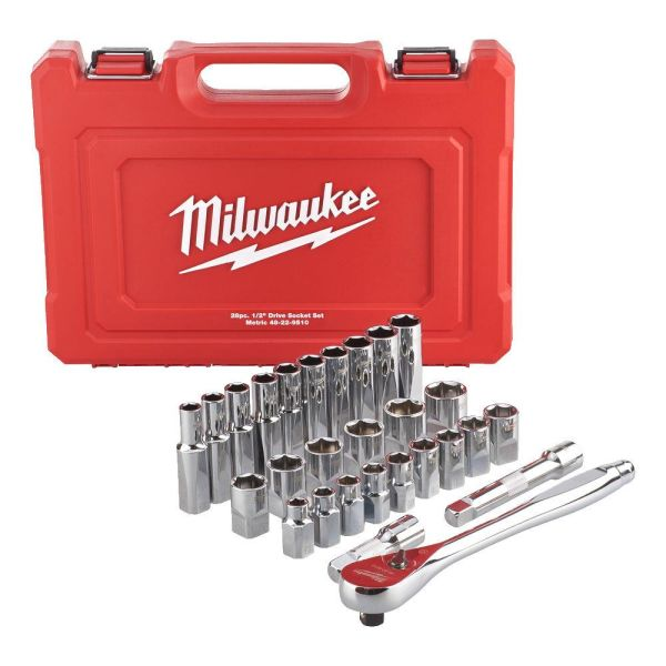 Milwaukee 4932471864 Hylsysarja sisältää vakiohylsyjä ja pitkiä hylsyjä