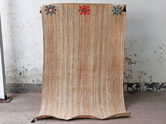 Bohemian Large Handwoven Natural Rug 240 x 150 Extra Large