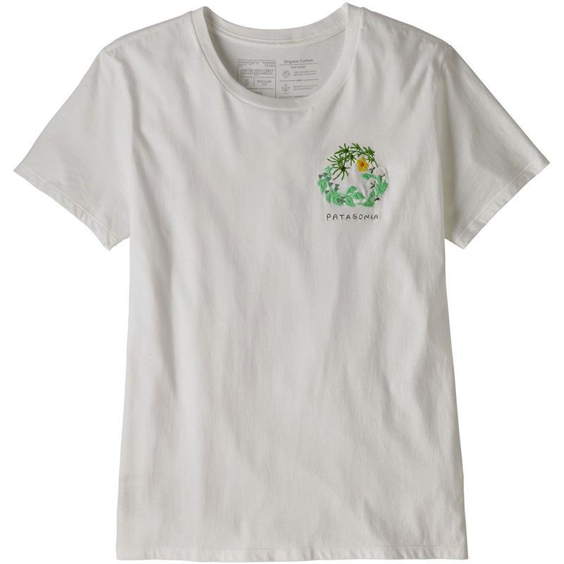 Patagonia Fiber Activist Organic L Crew T-shirt, dame, White