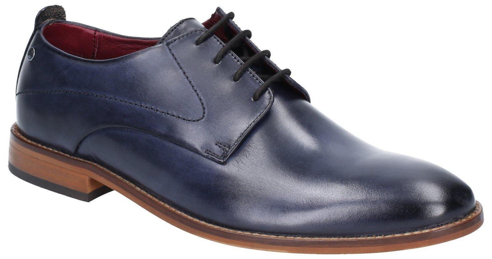 Base London Men's Script Washed Lace Up Shoe Various Colours 28545 - Navy 6