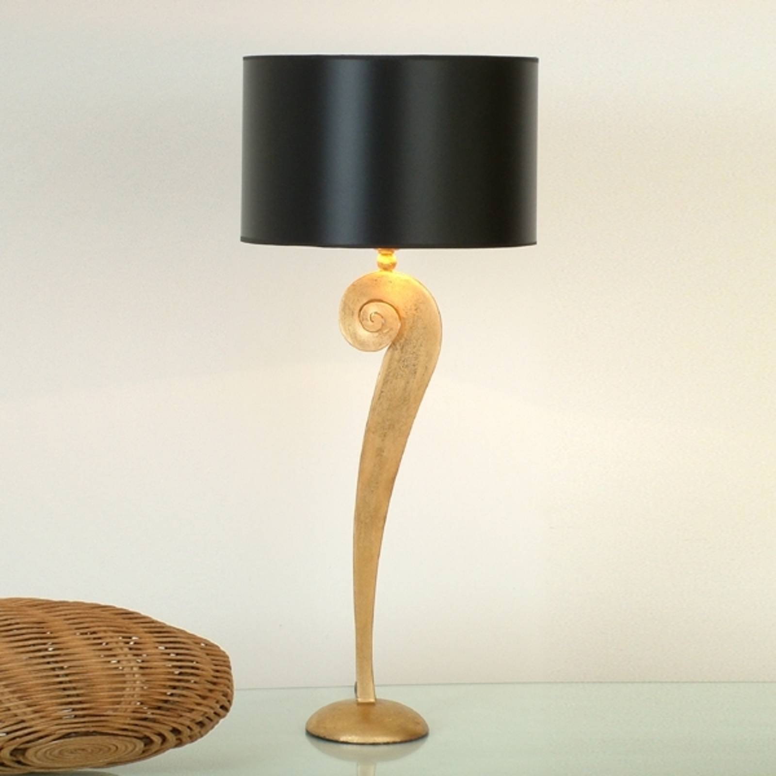 Eksklusiv bordlampe LORGOLIOSO i gull-sort
