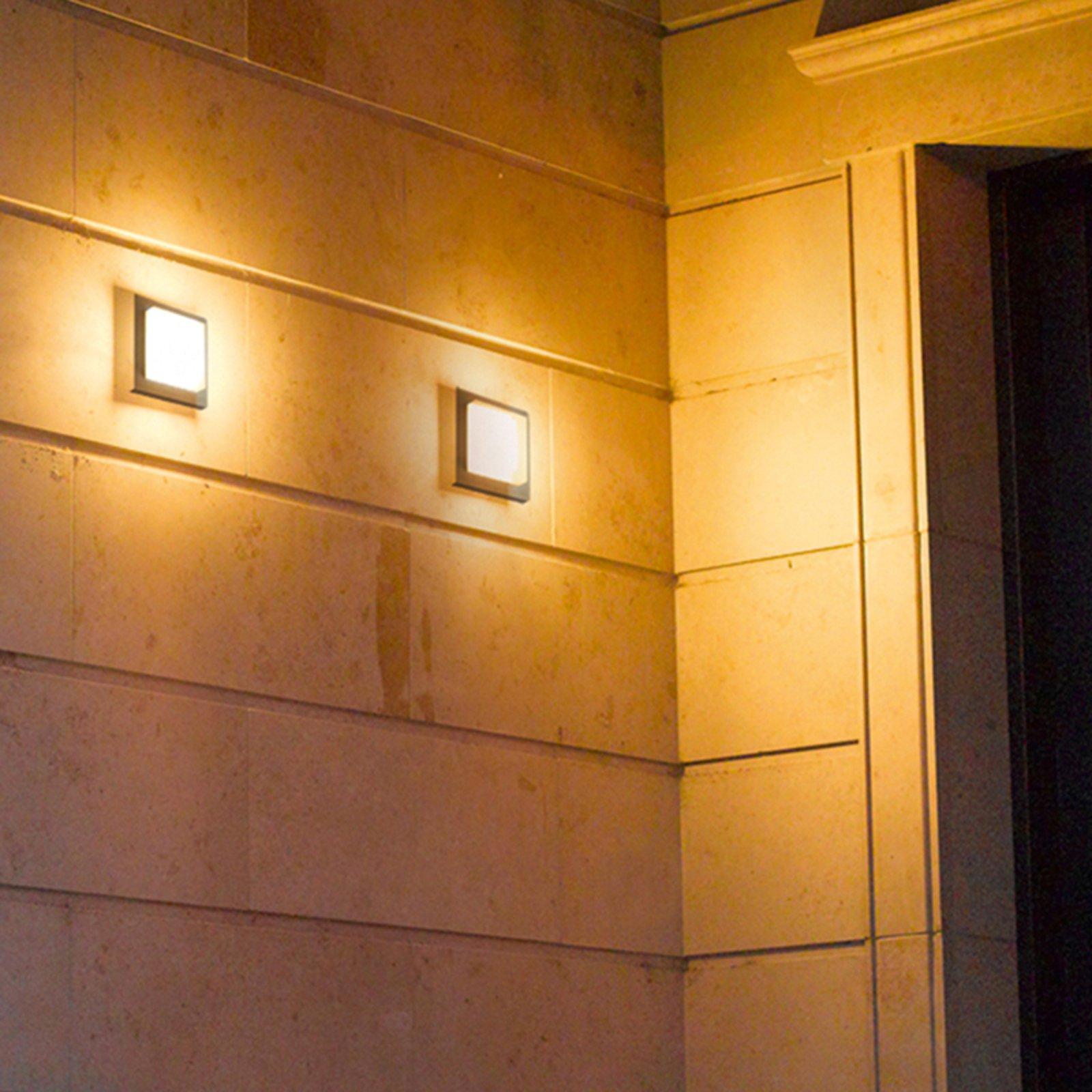 Utendørs LED-vegglampe Hondo, antrasitt