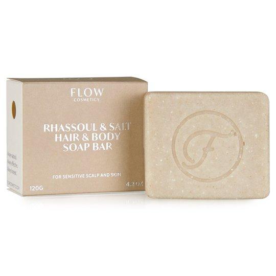 Flow Cosmetics Ekologisk Rasul- & Salttvål för Hår & Kropp, 120 g