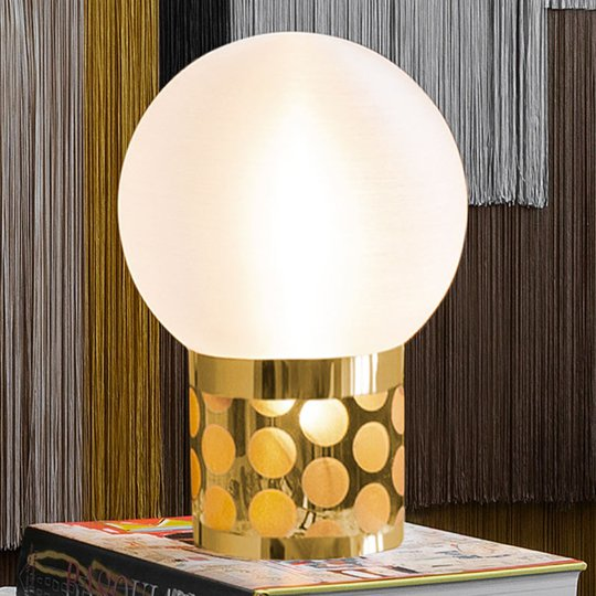 Slamp Atmosfera -pöytävalaisin, Ø 30 cm, kulta