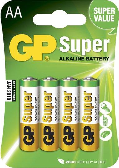 GP Batterier Super Alkaline AA 15A LR6 4-pack