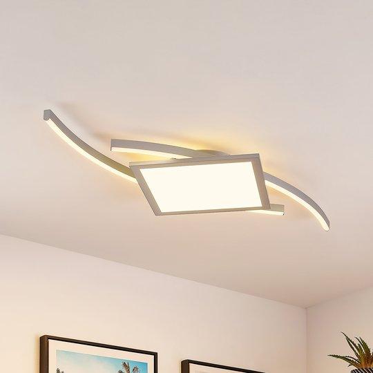 Lucande Tiaro -LED-kattovalaisin, kulmikas 42,5 cm