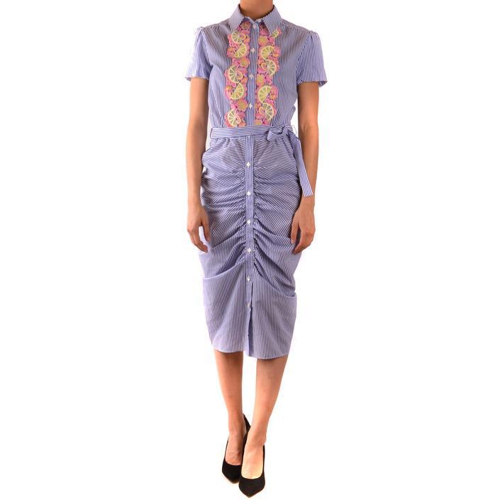 Boutique Moschino Women's Dress Blue 167508 - blue 40