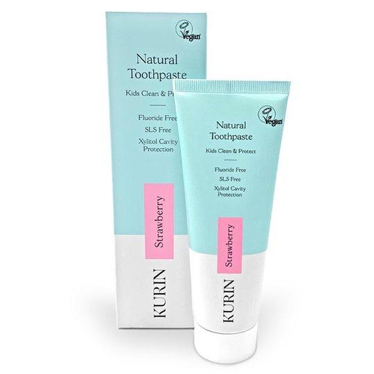 Kurin Natural Kids Toothpaste Fluoride Free - Strawberry, 75 ml