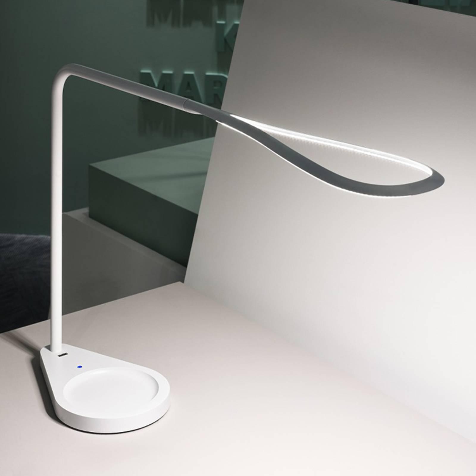 Fontana Arte Kinx -LED-työpöytälamppu, valkoinen