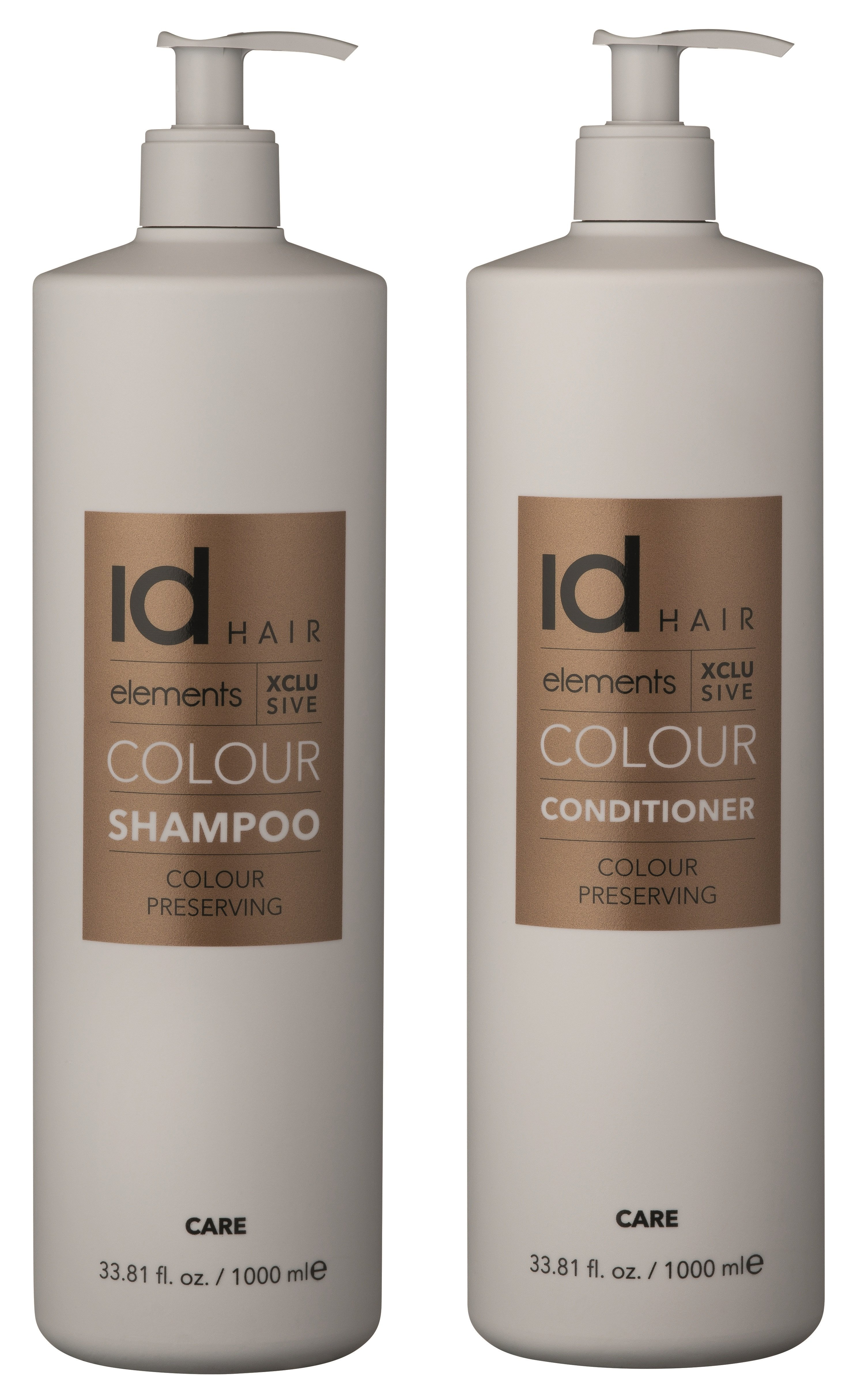 IdHAIR - Elements Xclusive Colour Shampoo 1000 ml + Conditioner 1000 ml