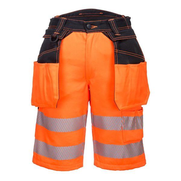 Portwest PW3 Arbetsshorts Hi-Vis orange 30