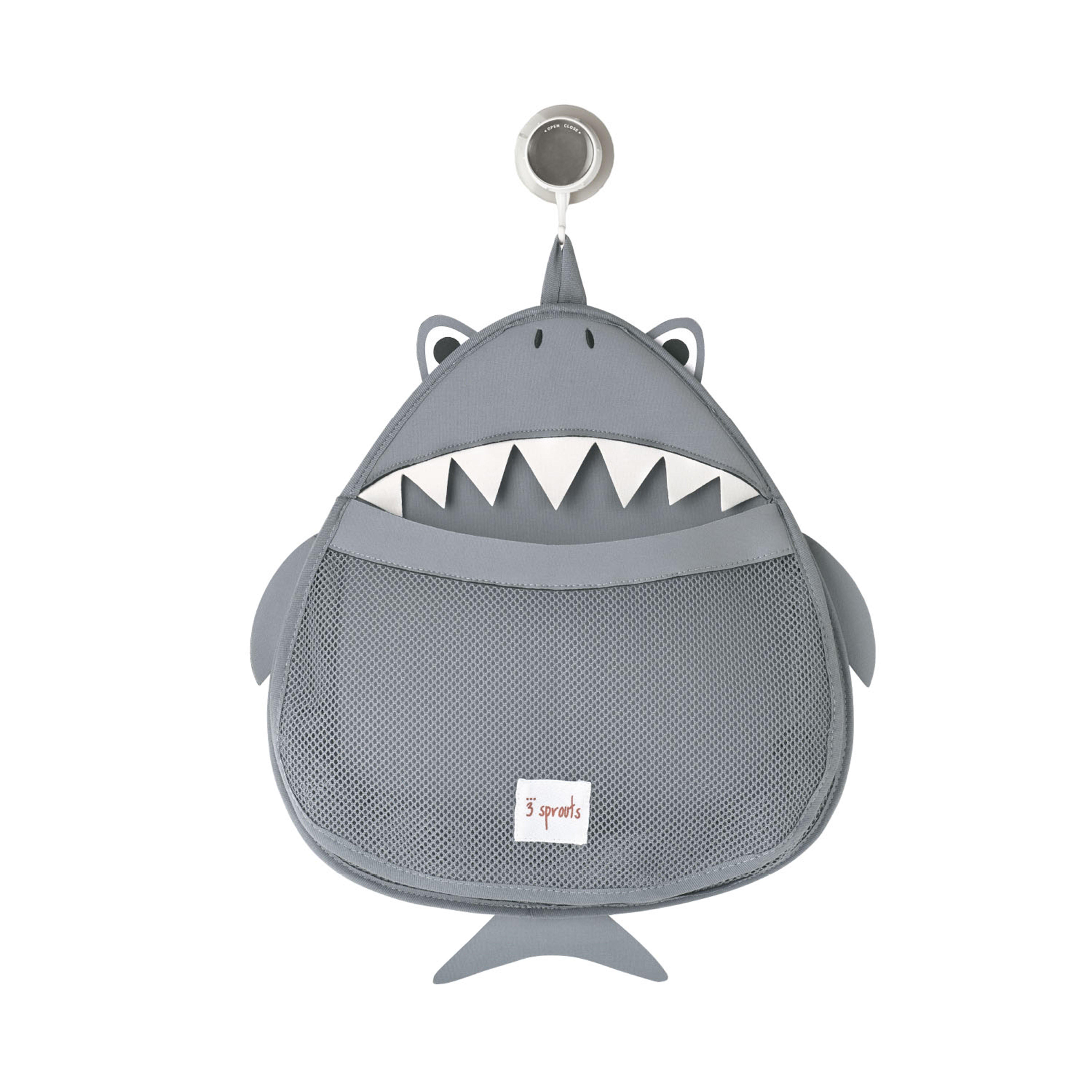 3 Sprouts - Bath Storage - Gray Shark