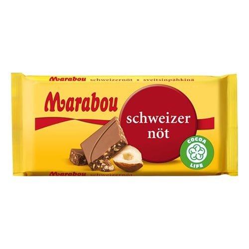 Marabou Schweizernöt Chokladkaka - 24 gram