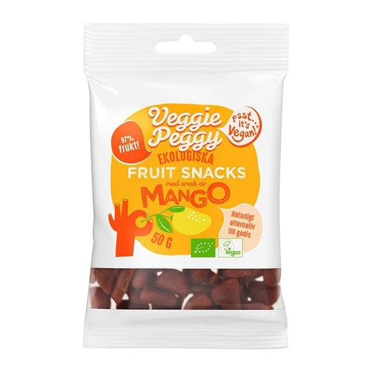 Veggie Peggy Ekologiska Fruit Snacks Mango, 50 g