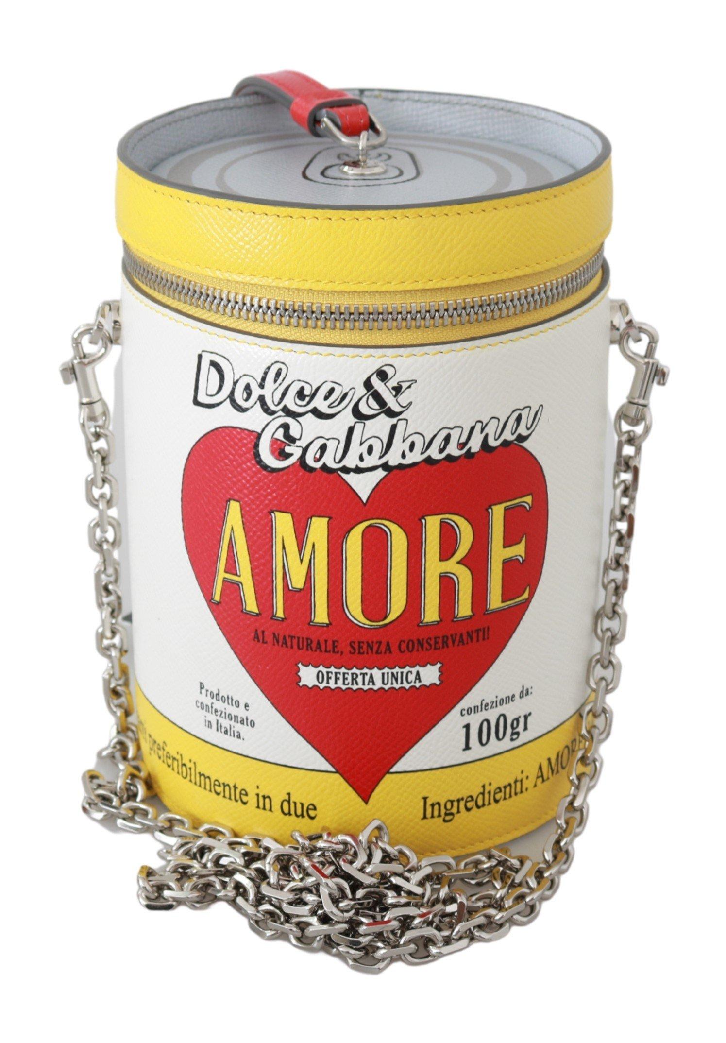 Dolce & Gabbana Women's Amore Round Leather Crossbody Bag White VAS9237