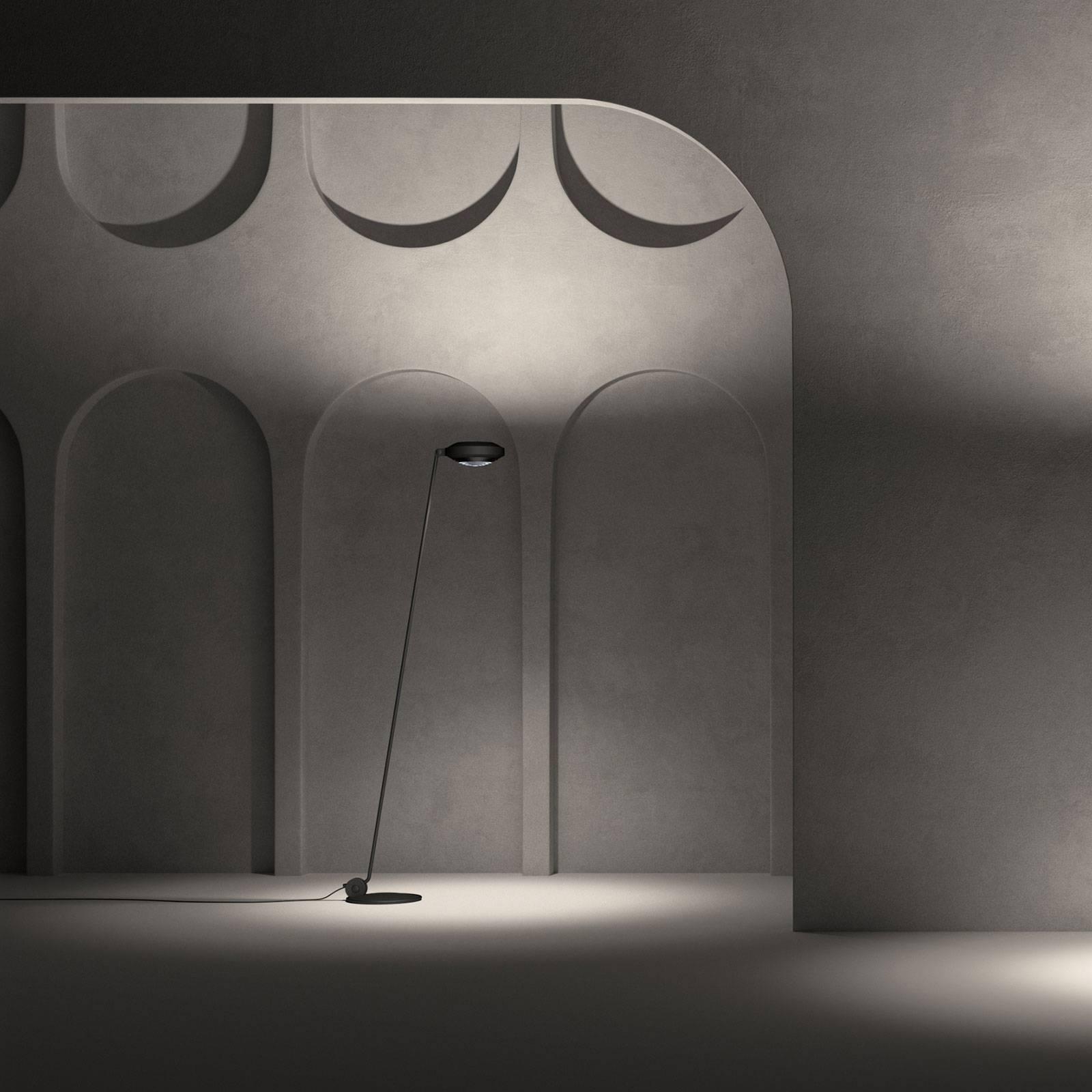 Lumina Elle 1-LED-lattiavalo 180cm musta