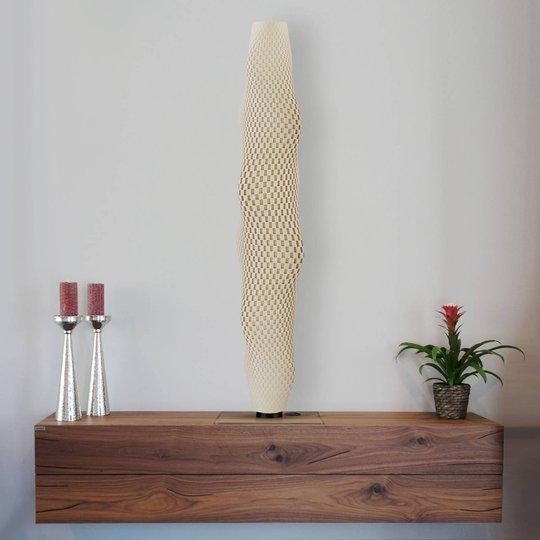 LED-gulvlampe Flechtwerk Kaktus, 75 cm, beige