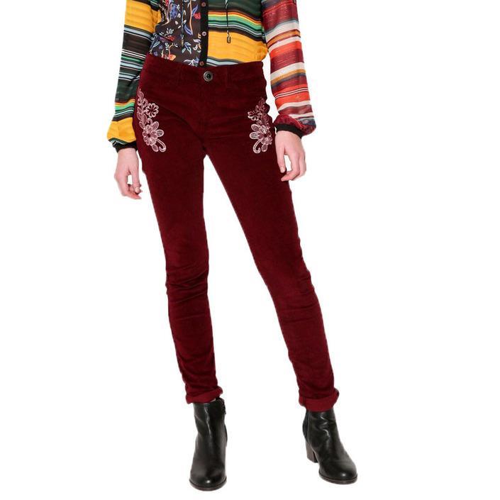 Desigual Women's Trouser Bordeaux 160433 - bordeaux 34