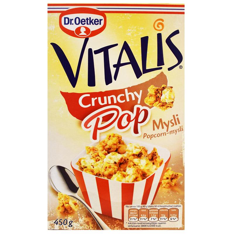 """Crunchy Pop"" Mysli 450g - 56% alennus"