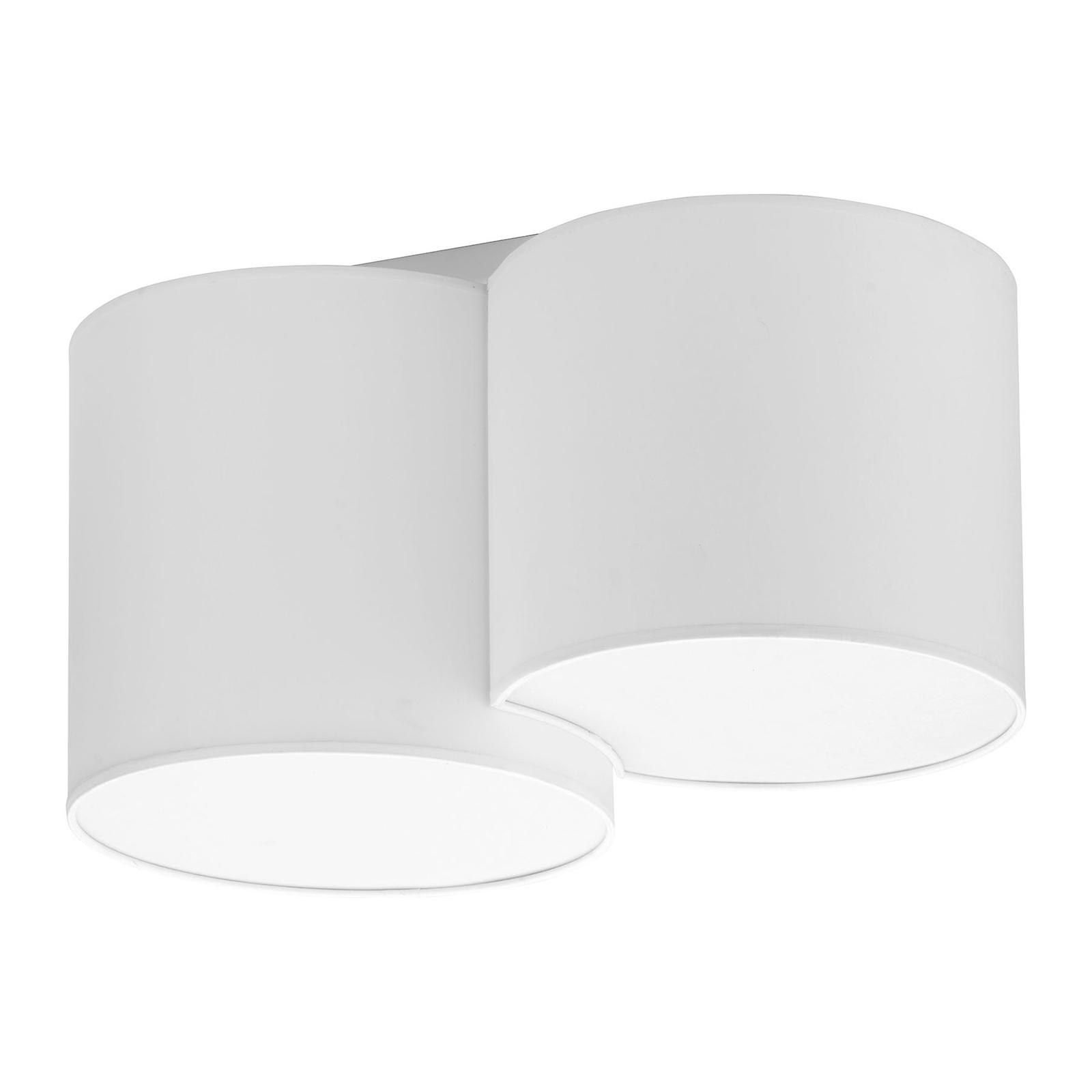 Kattovalaisin Mona, 2-lamppuinen, valkoinen