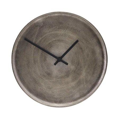 Klokke Curva Sølvoksidert 30 cm