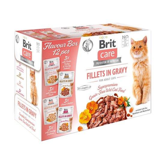 Brit Care Cat Adult Bitar i Sås Multipack 12x85 g