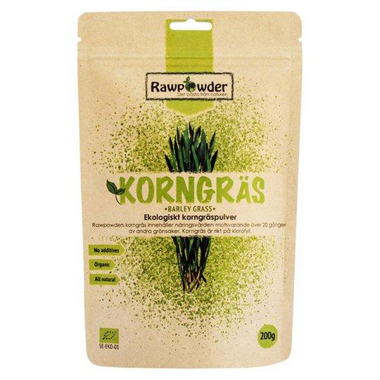 Rawpowder Ekologiskt Korngräspulver, 200 g