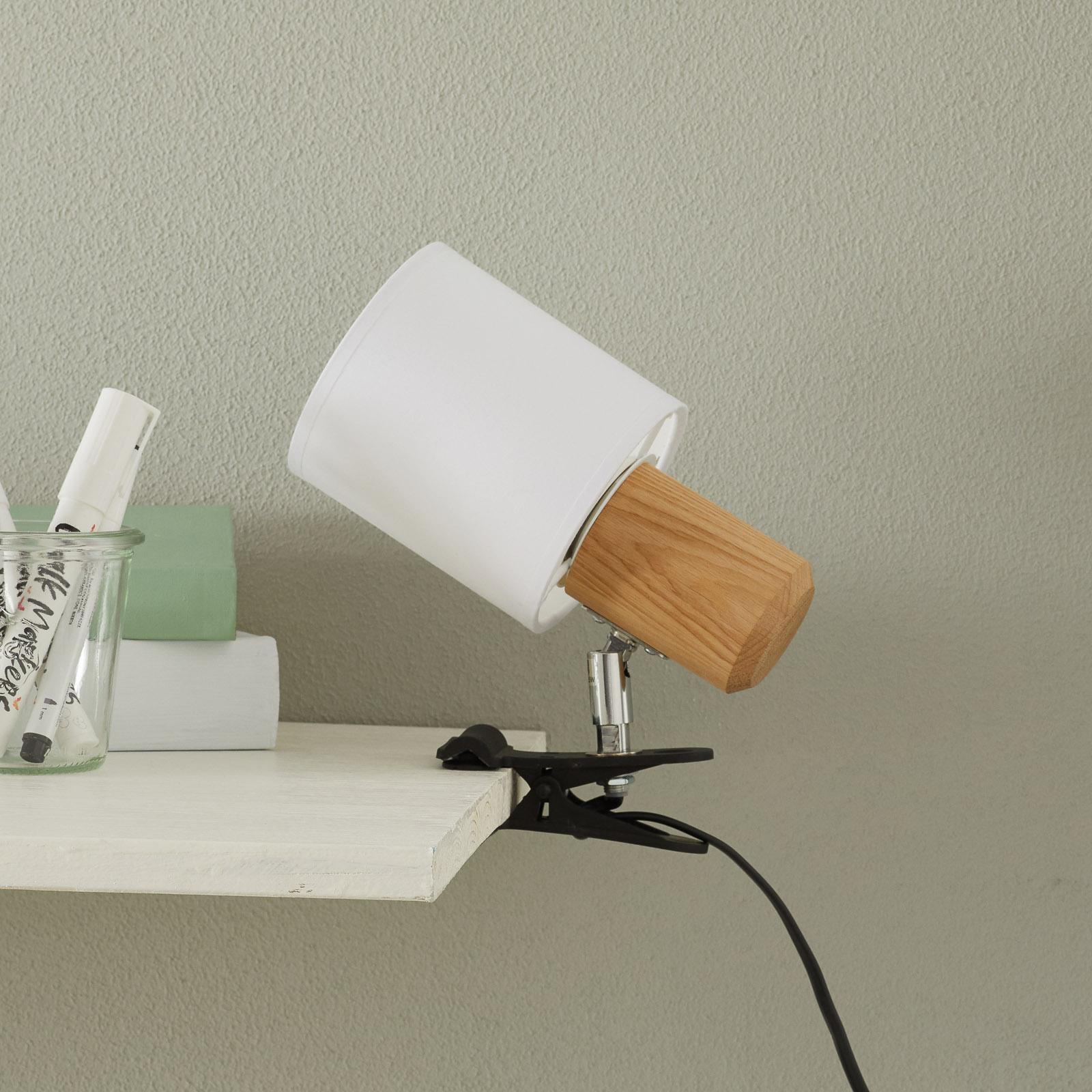 Moderni klipsivalaisin Clampspots, valkoinen