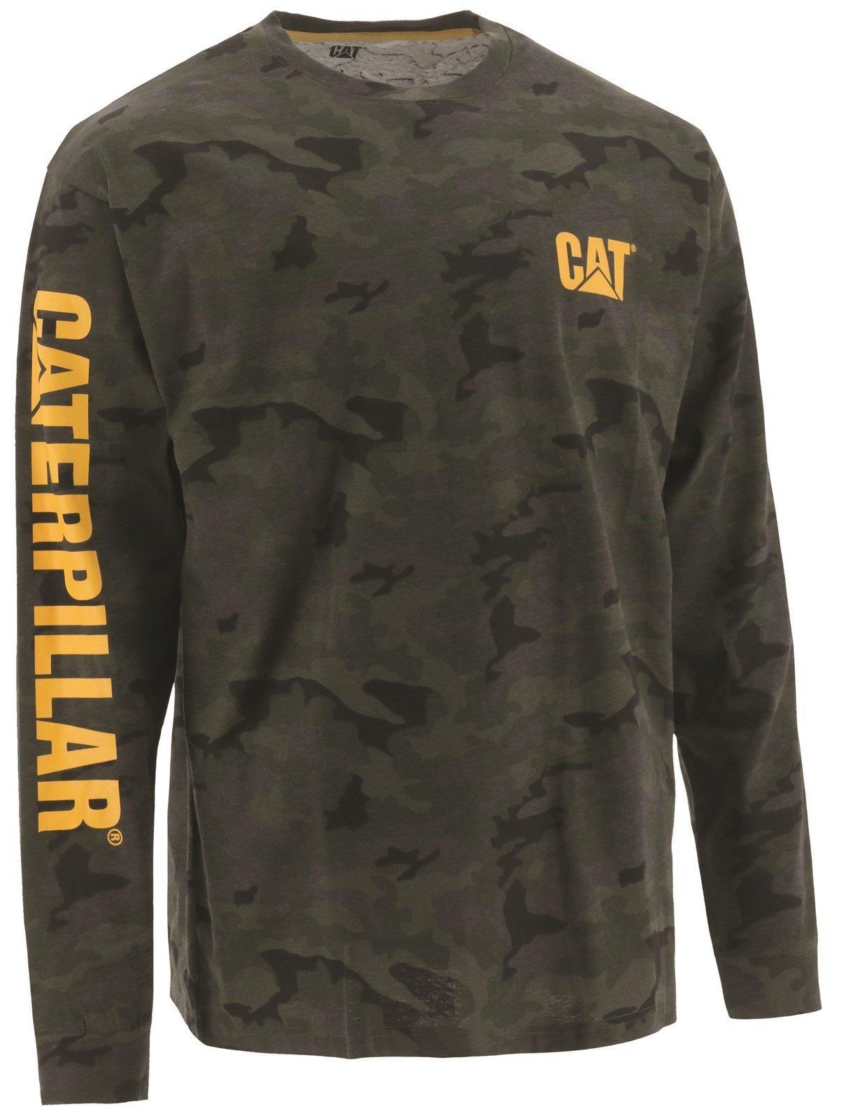 Caterpillar Unisex Trademark Banner LS T-Shirts Night Camo 31681 - Night Camo Sml