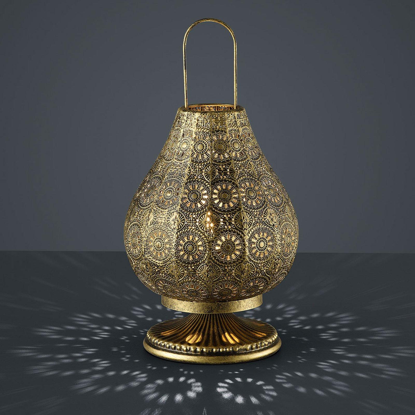 Jasmin - bordlampe i orient-design, antikk messing