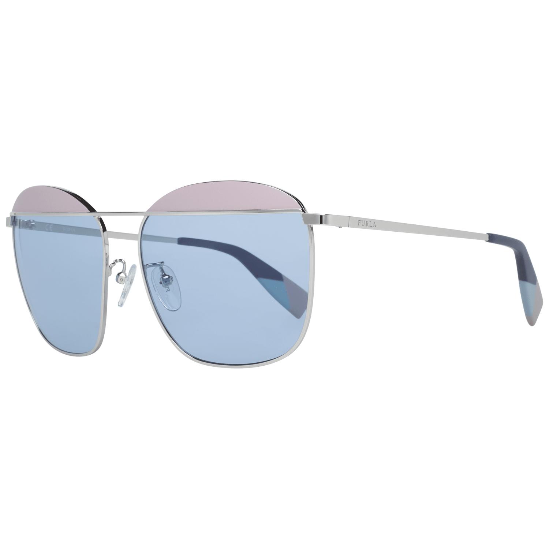 Furla Women's Sunglasses Silver SFU237 590523