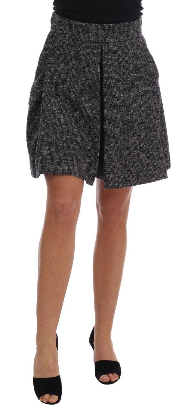 Dolce & Gabbana Women's A-Line Above Knee Wool Tweed Skirt Gray SKI1123 - IT40|S