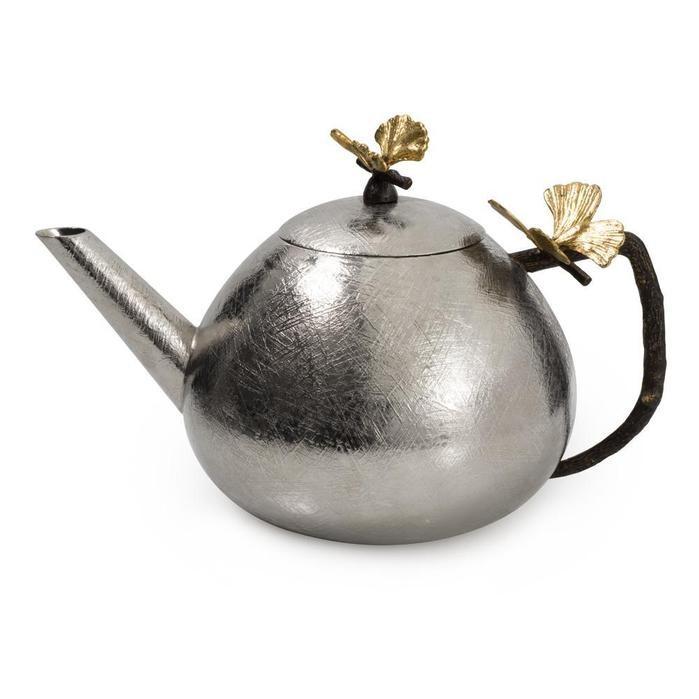 Michael Aram I Butterfly Ginkgo Round Teapot