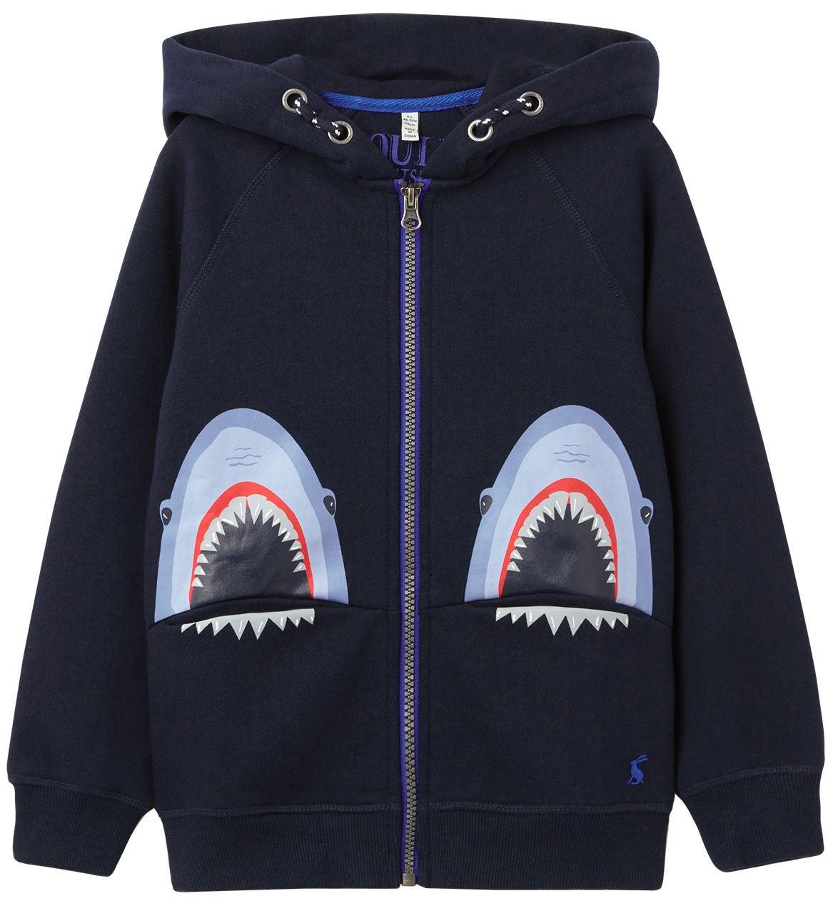 Tom Joule Seth Pocket Huvtröja, Navy Sharks, 2 år