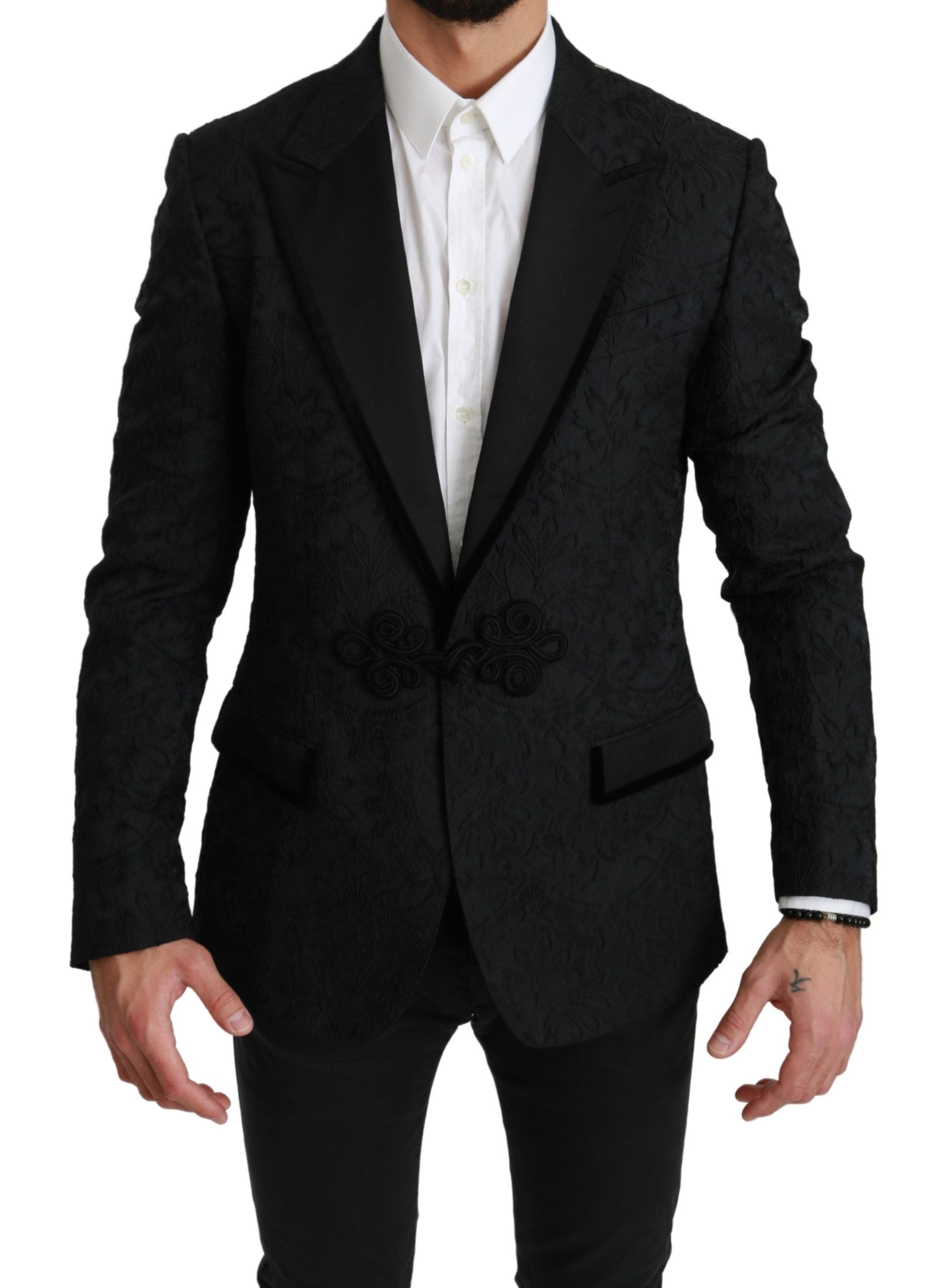 Dolce & Gabbana Men's Jacquard TORERO Lace Blazer Black JKT2533 - IT50 | L