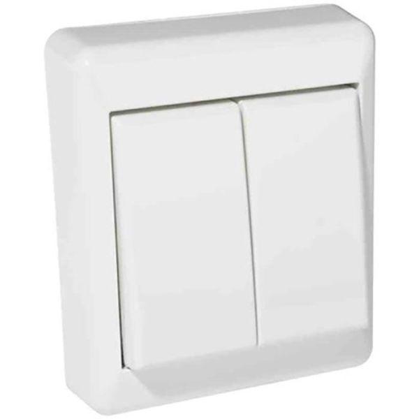 Elko RS16 Kytkin pinta-asennettava, valkoinen kruunu