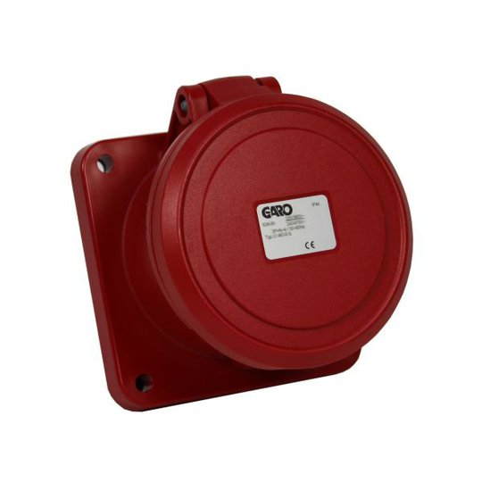 Garo UI 363-3 S Paneelin ulostulo IP44, 4-napainen, 63A Punainen, 3 h