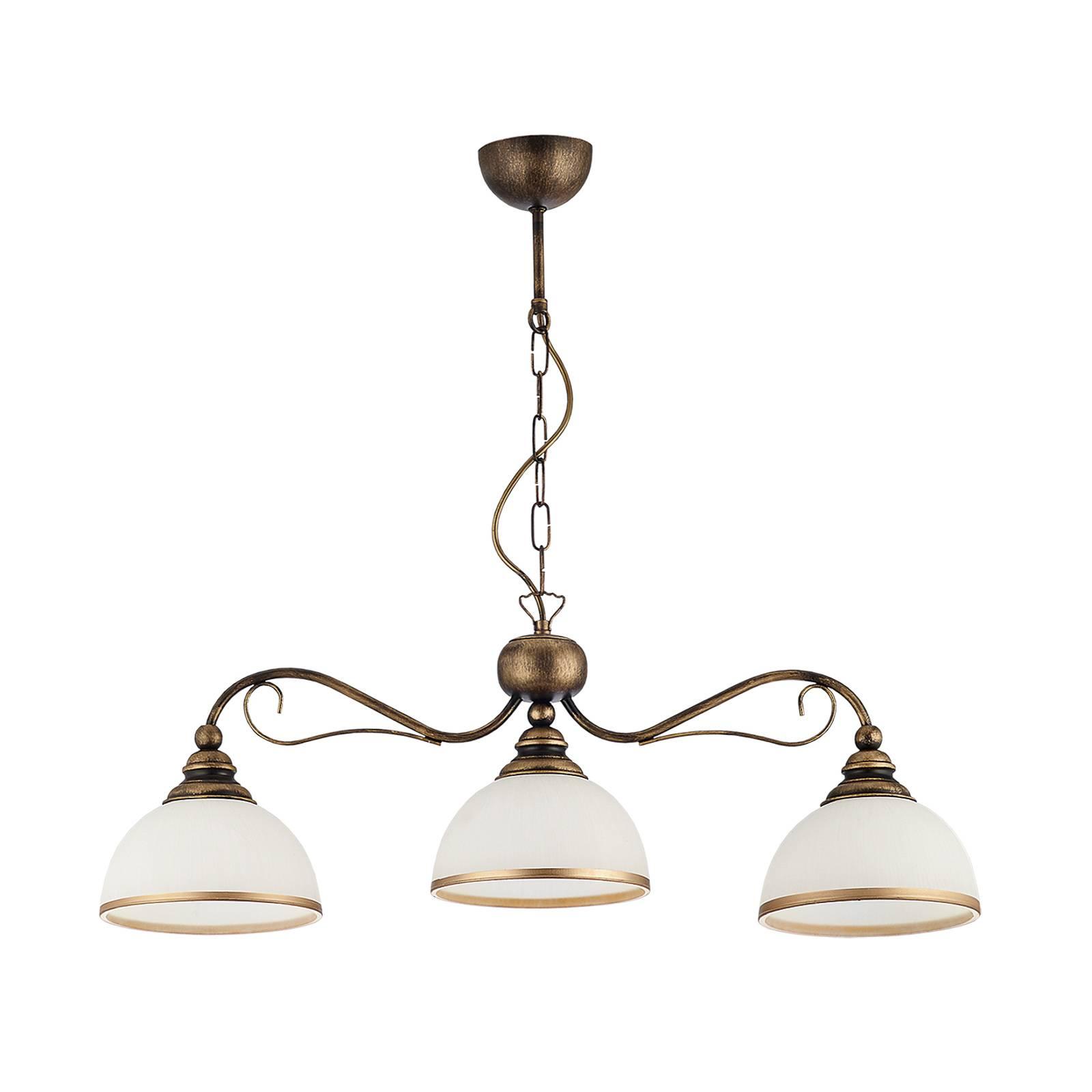 Tankoriippuvalaisin Casale 3-lamppuinen, P 74 cm