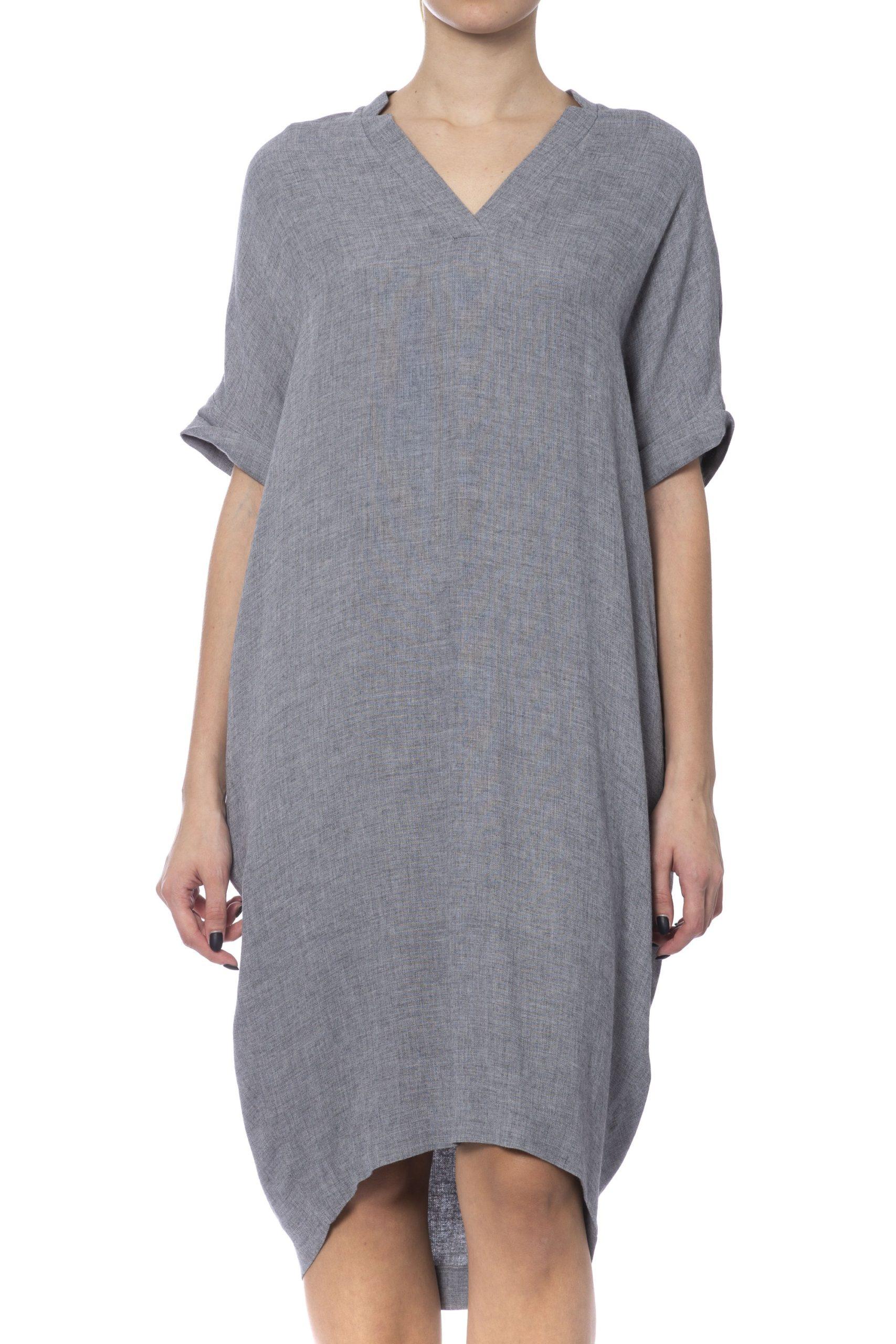 Peserico Women's Dress Grey PE992294 - IT42   S