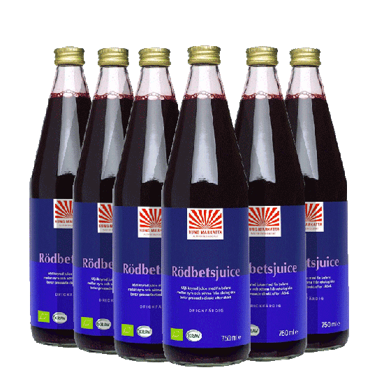 6 x Rödbetsjuice KRAV, 750 ml